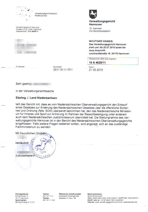 freiheitsfoo Wiki | Main / Reform Polizeigesetz Niedersachsen 2015